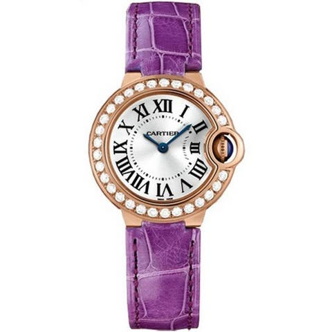 Cartier Women's WE900251 'Ballon Bleu' Purple Leather Watch