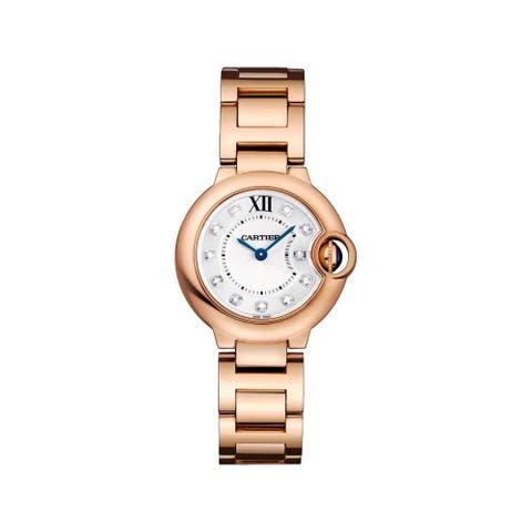 Cartier Women's WJBB0016 'Ballon Bleu' Diamond Rose Gold-Tone Stainless Steel Watch