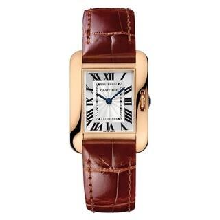 Cartier Women's W5310028 'Tank' Brown Leather Watch