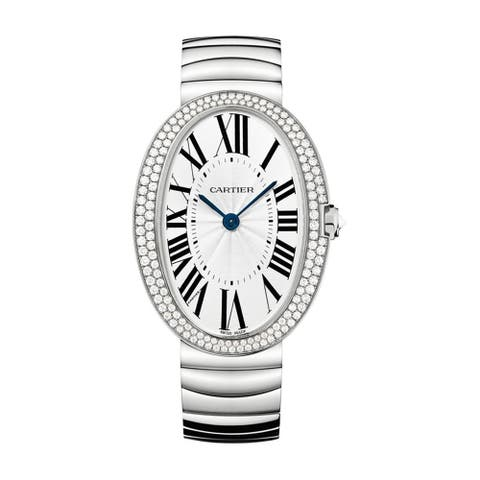 Cartier Women's WB520010 'Baignoire' Stainless Steel Watch