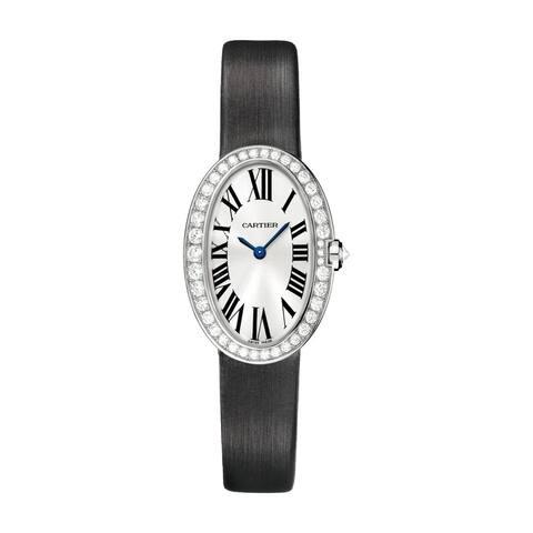 Cartier Women's WB520008 'Baignoire' Black Synthetic Watch