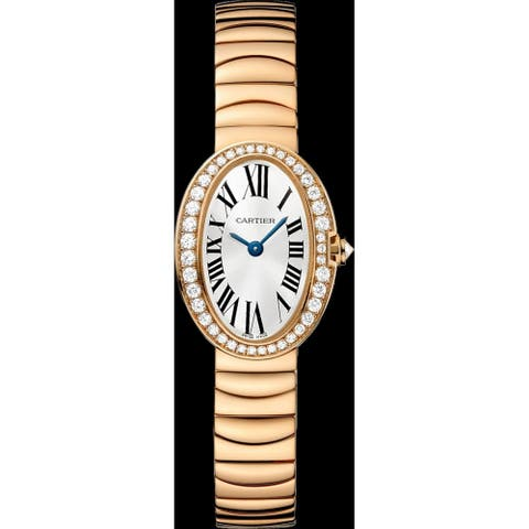 Cartier Women's WB520026 'Baignoire' Rose Gold-tone Stainless Steel Watch