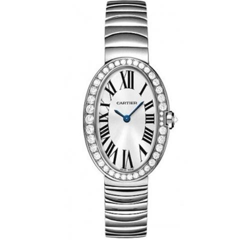 Cartier Women's WB520006 'Baignoire' White Gold-Tone Stainless Steel Watch