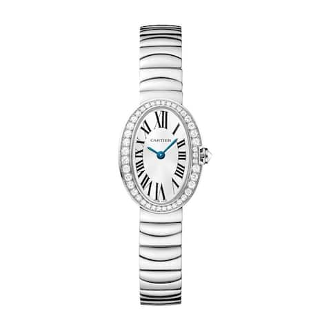 Cartier Women's WB520025 'Baignoire' Stainless Steel Watch