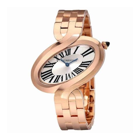 Cartier Women's W8100006 'Delices De Cartier' Rose Gold-Tone Stainless Steel Watch