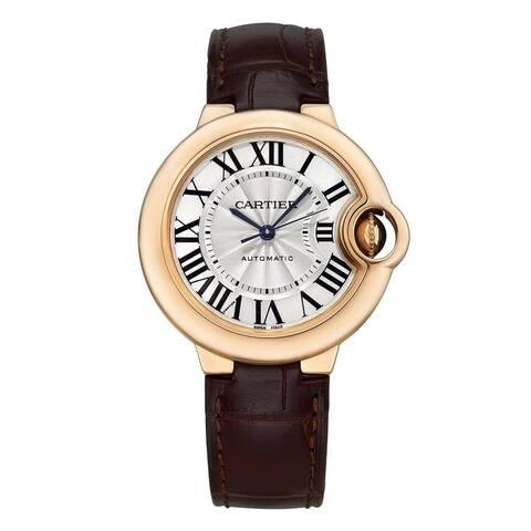 Cartier Women's W6920097 'Ballon Bleu' Brown Leather Watch