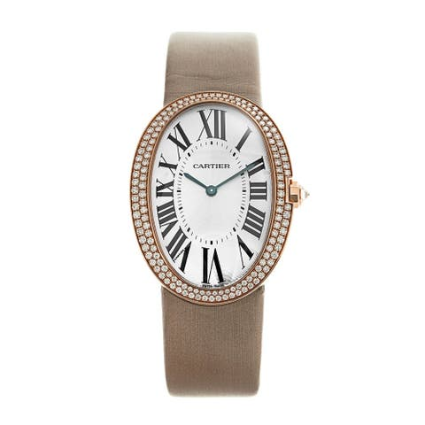 Cartier Women's WB520005 'Baignoire' Beige Synthetic Watch
