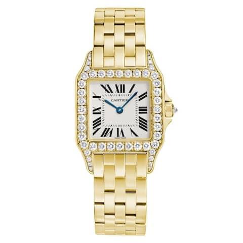 Cartier Unisex WF9002Y7 'Santos' Gold-Tone Stainless Steel Watch