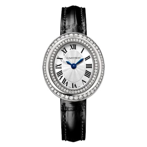 Cartier Women's WJHY0005 'Hypnose' Black Leather Watch