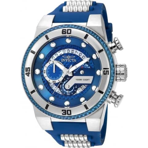 Invicta Men's 24223 'S1 Rally' Blue and Silver Polyurethane and Stainless Steel Watch