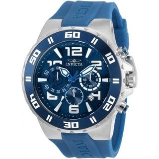 Invicta Men's 30937 'Pro Diver' Blue Silicone Watch
