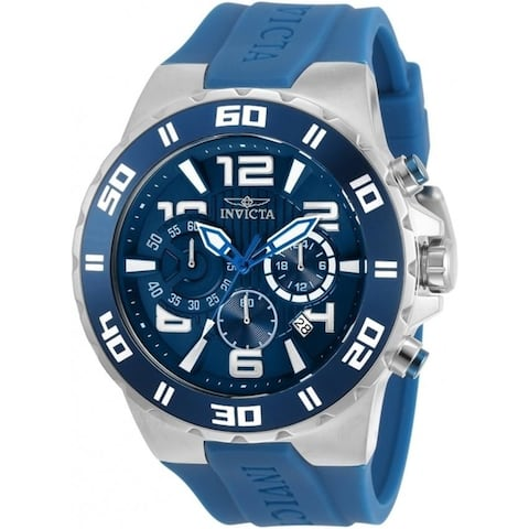 Invicta Men's 30937 'Pro Diver' Blue Silicone Watch
