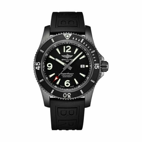 Breitling Men's M17368B71B1S1 'Superocean 46' Black Rubber (Diver Pro III) Watch