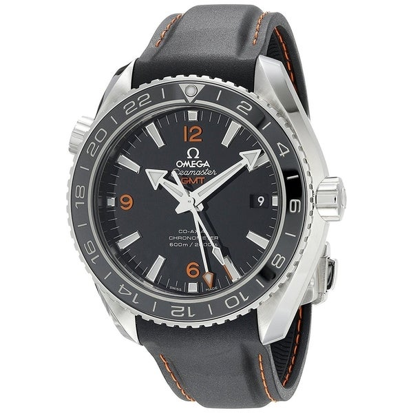 Omega Men's O23232442201002 'Seamaster' GMT Automatic Black Leather Watch. Opens flyout.