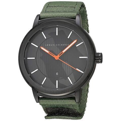 Armani Exchange Men's AX1468 'Three Hand' Green Nylon Watch