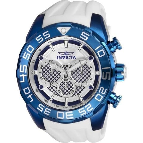Invicta Men's 26300 'Speedway' White Silicone Watch