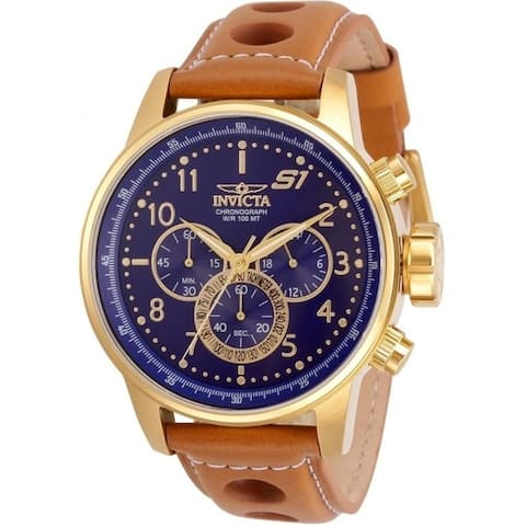 Invicta Men's 30917 'S1 Rally' Brown Leather Watch