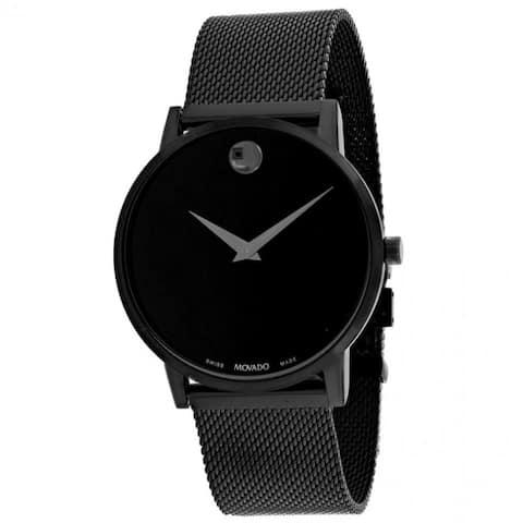 Movado Men's 0607395 'Museum' Black Leather Watch