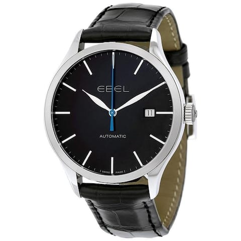 Ebel Men's 1216089 'Classic' Automatic Black Leather Watch