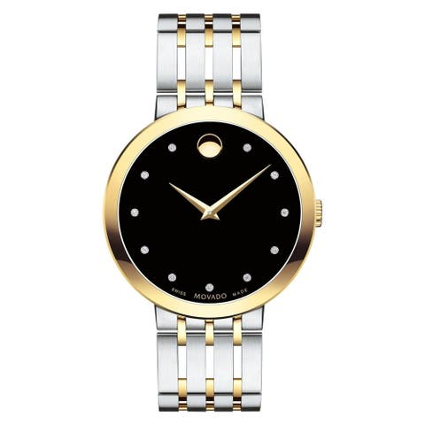 Movado Men's 0607191 'Esperanza' Two-tone Stainless Steel Watch