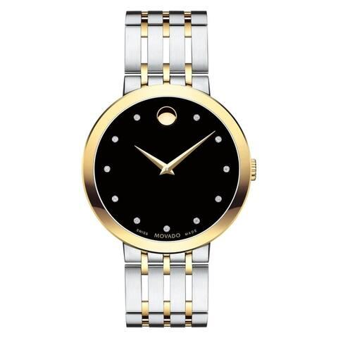 Movado Men's 0607191 'Esperanza' Two-tone Stainless Steel Watch