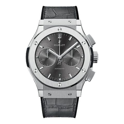 Hublot Men's 521.NX.7071.LR 'Classic Fusion Racing' Chronograph Automatic Grey Leather Watch