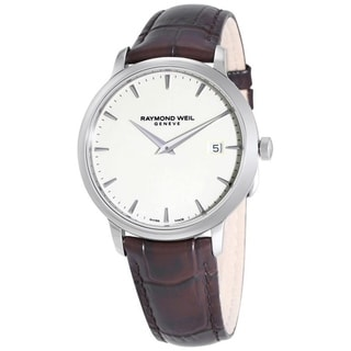 Raymond Weil Men's 5488-STC-40001 'Tradition' Brown Leather Watch