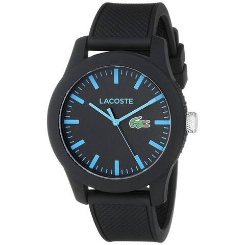 Lacoste Men's 2010791 '12.12' Black Silicone Watch