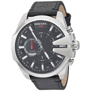 Link to Diesel Men's DZT1010 'Smartwatch' Black Leather Watch Similar Items in Men's Watches