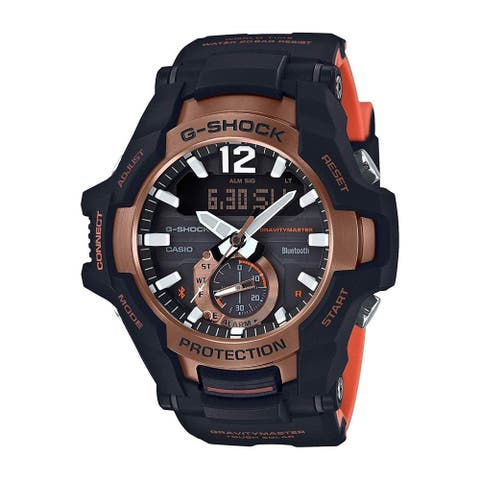 Casio Men's GRB100-1A4 'G-Shock' Black Resin Watch
