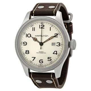 Link to Hamilton Men's H60515593 'Khaki Pioneer Field' Brown Leather Watch Similar Items in Men's Watches