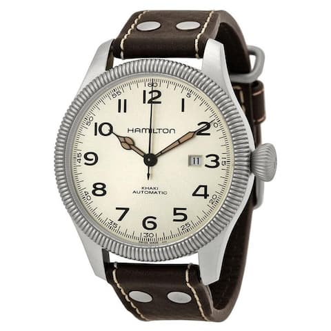 Hamilton Men's H60515593 'Khaki Pioneer Field' Brown Leather Watch