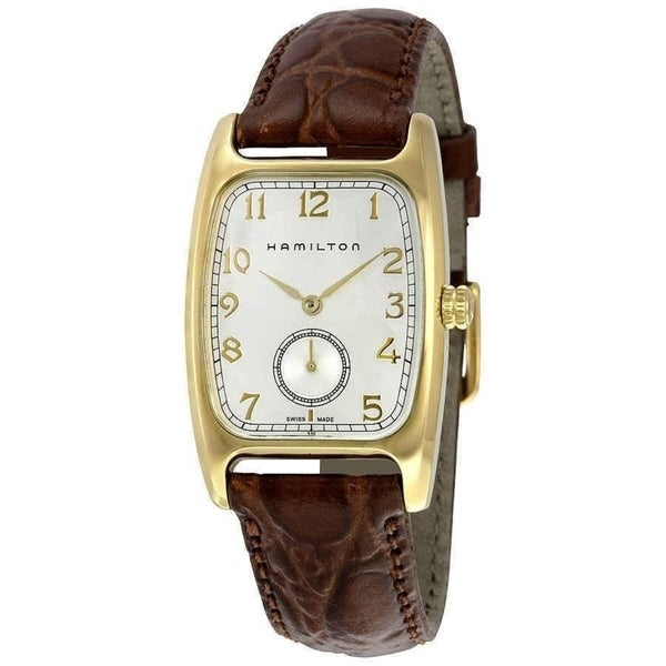 Hamilton Men's H13431553 'American Classic' Brown Leather Watch. Opens flyout.