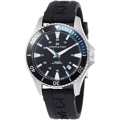 Hamilton Men's H82315331 'Khaki Scuba Automatic' Automatic Black Rubber Watch