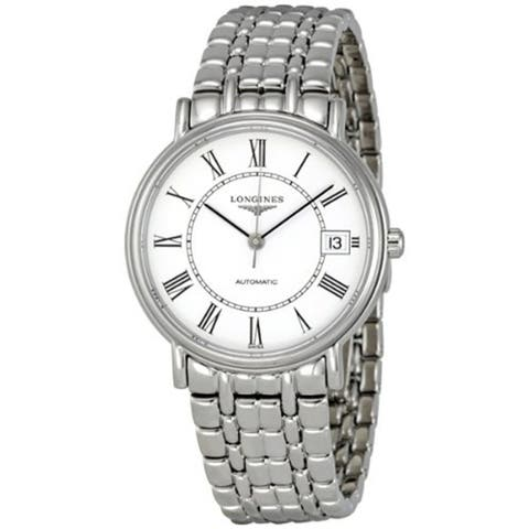 Longines Men's L48214116 'Presence' Automatic Stainless Steel Watch