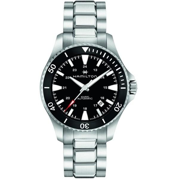 Hamilton Men's H82335131 'Khaki Navy' Stainless Steel Watch. Opens flyout.