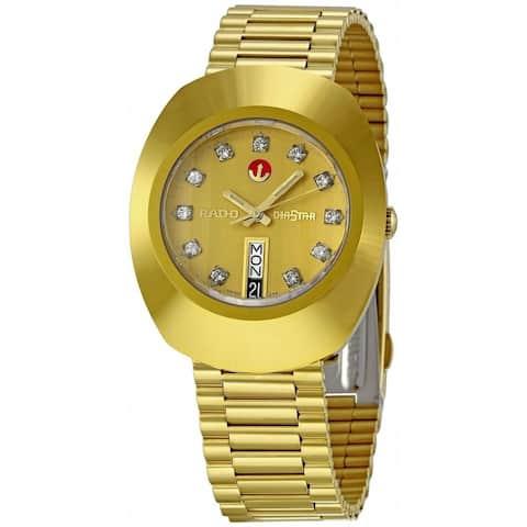 Rado Men's R12413493 'Original' Diamond Gold-Tone Stainless Steel Watch