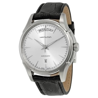 Link to Hamilton Men's H32505751 'Jazzmaster ' Automatic Black Leather Watch Similar Items in Men's Watches