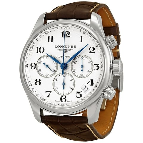 Longines Men's L26934783 'Master' Chronograph Automatic Brown Leather Watch
