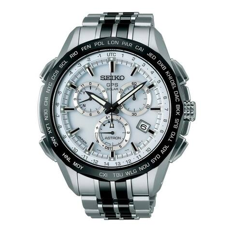 Seiko Men's SSE001 'Astron GPS Solar Limited Edition' Chronograph World Time Stainless steel and Ceramic Watch