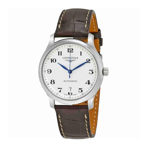Longines Men's L26284783 'Master' Automatic Brown Leather Watch