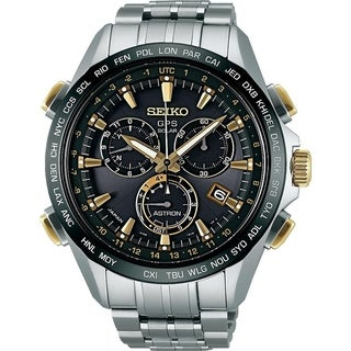 Link to Seiko Men's SSE007 'Astron GPS Solar' Chronograph World Time Titanium Watch Similar Items in Men's Watches