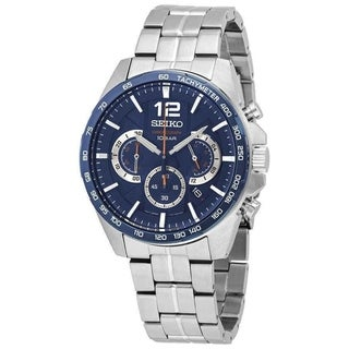 Link to Seiko Men's SSB345 'Sports' Chronograph Stainless Steel Watch Similar Items in Men's Watches