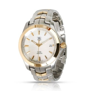 Link to Tag Heuer Men's WJF1152.BB0579 'Link' Two-Tone 18kt Gold and Stainless Steel Watch Similar Items in Men's Watches