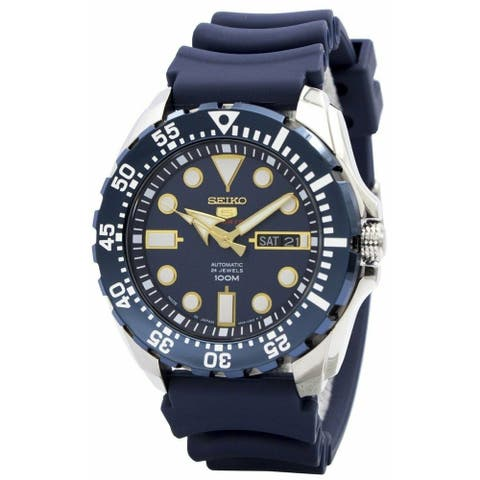 Seiko Men's SRP605J2 'Sports' Blue Rubber Watch