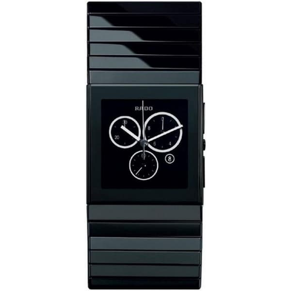 Rado Men's R21714152 'Ceramica' Chronograph Black Ceramic Watch. Opens flyout.