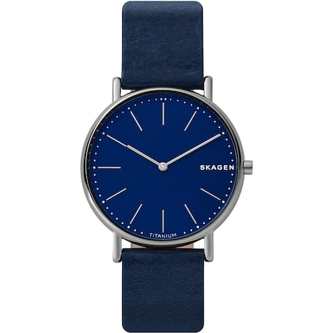 Skagen Men's SKW6481 'Signatur' Blue Leather Watch