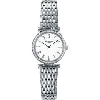Link to Longines Women's L42410116 'La Grande Classique' Diamond Stainless Steel Watch Similar Items in Women's Watches