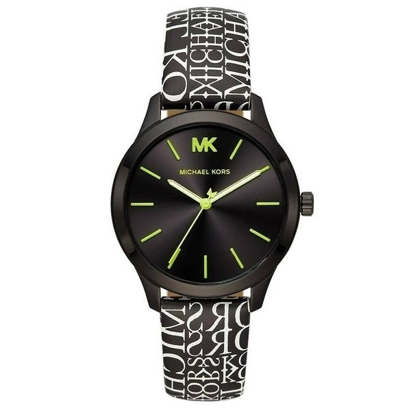 Michael Kors Women's MK2847 'Runway' Two-Tone Leather Watch. Opens flyout.