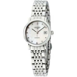 Link to Longines Women's L4.309.4.87.6 'Elegant' Stainless Steel Watch Similar Items in Women's Watches